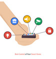 best control of your smart home vector image vector image