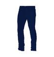 blue denim long pants fashion style item vector image vector image