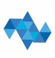 blue diamond and logo vector image vector image