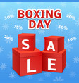 boxing day final sale concept background vector image
