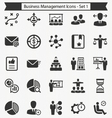 Business Management Icons - Set 1 vector image