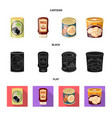 can and food logo vector image vector image