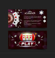 casino background style ace vip flyer invitation vector image vector image