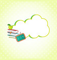 cloud sticker decorated with school supplies icon vector image vector image