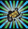 club party flayer for music event or poster vector image vector image