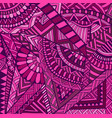 colorful geometric abstract doodle background vector image vector image