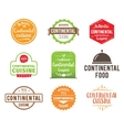 Continental cuisine label vector image vector image