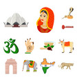 country india cartoon icons in set collection vector image vector image