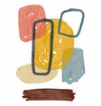 creative minimalist hand painted abstract arts vector image vector image