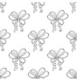 curly ribbon bows seamless pattern vector image