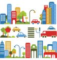 cute city design elements vector image vector image