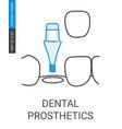 dental prosthetics icon vector image vector image