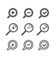 Different zoom icons set vector image vector image