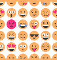 emoji and emoticons smiles flat icons set or vector image