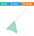Flat design icon of Fishing net vector image