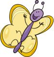 funny butterfly vector image vector image