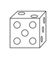 gambling casino dice leisure entertainment vector image