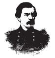 general george mcclellan vintage vector image vector image