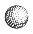golf ball flat icon vector image vector image
