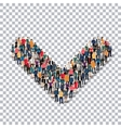 group people shape letter V Transparency vector image vector image
