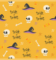 halloween seamless design elements background vector image vector image