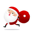 happy christmas character santa claus cartoon 015 vector image vector image