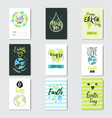 happy earth day cards set collection creative vector image