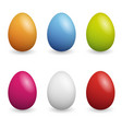 happy easter set easter eggs with different vector image vector image