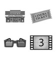 isolated object of cinematography and studio icon vector image