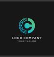 letter e icon technology smart logo vector image vector image