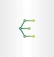 letter e logo electronics circuit icon vector image
