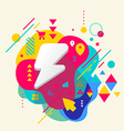 Lightning on abstract colorful spotted background vector image vector image