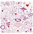 Love doodles vector image vector image