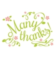 Many Thanks vector image