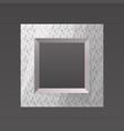 metal printed frame blank vector image vector image