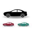 modern car icon black and white flat simple with vector image vector image