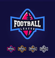 modern professional logo for a football league vector image vector image