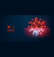 novel coronavirus covid-2019 on a blue background vector image