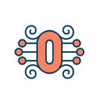 number 0 sign vector image