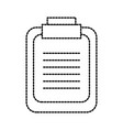 office clipboard checklist report information vector image vector image