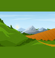 panorama spring and summer vector image vector image