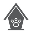 pet house glyph icon animal and home dog house vector image vector image