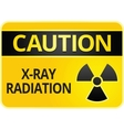 radiation hazard sign vector image vector image