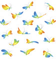 set different butterflies vector image