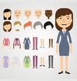 set of dress up constructor with different vector image vector image