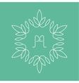 Set of outline floral emblems vector image vector image