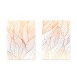 set posters with hand drawn stylized plant vector image vector image