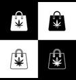 set shopping paper bag medical marijuana or vector image vector image