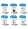 Set smiling plastic cups 011 vector image vector image
