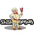 Shish kebab cook east kitchen character